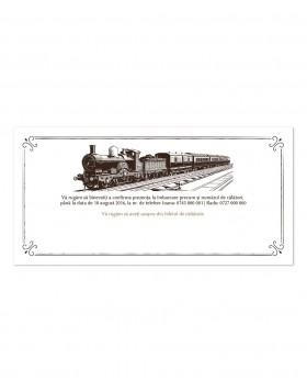 Invitatie de nunta Orient Express