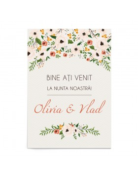 Panou Bun Venit Lively Wreath
