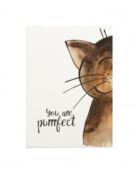 Felicitare Purrrfect Cat