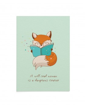 Felicitare Reading Fox