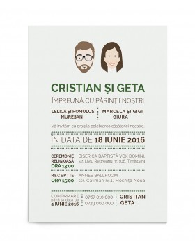 Invitatie de nunta Wedding Day