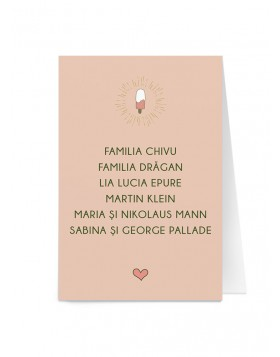 Card de nume Funky Love