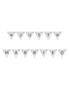 Ghirlanda Simple Marblellous Just Married