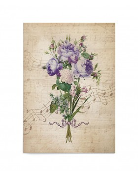 Invitatie de nunta Typography Flowers