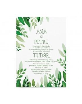 Invitatie de Nunta si Botez Greenery Touch