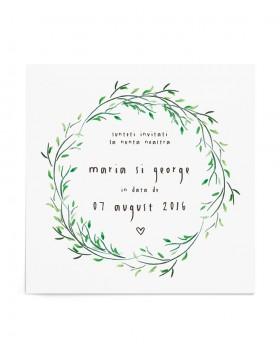 Invitatie de nunta All Natural