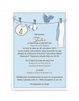 Invitatie de botez Baby on Board