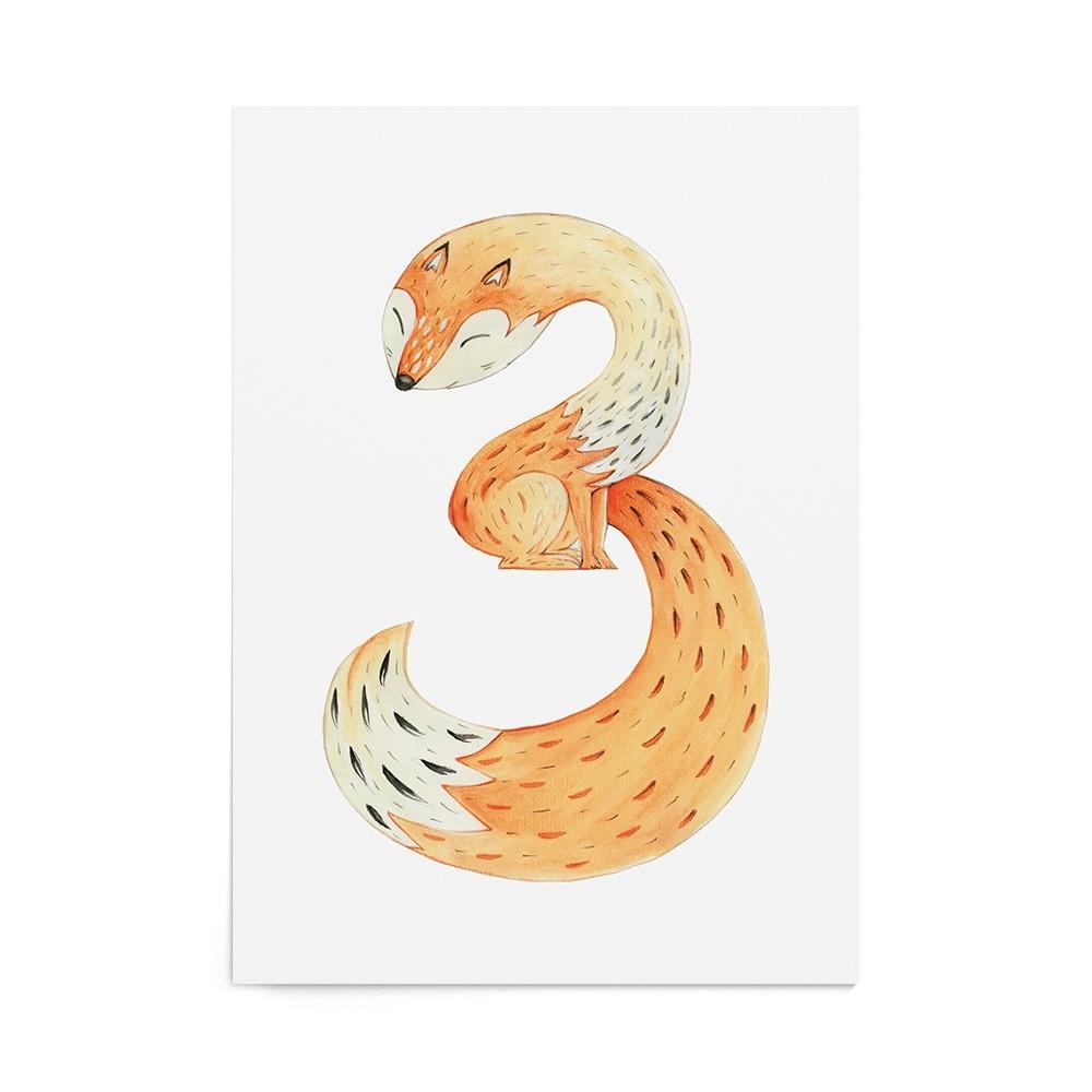 Poster Cifre Animal Three