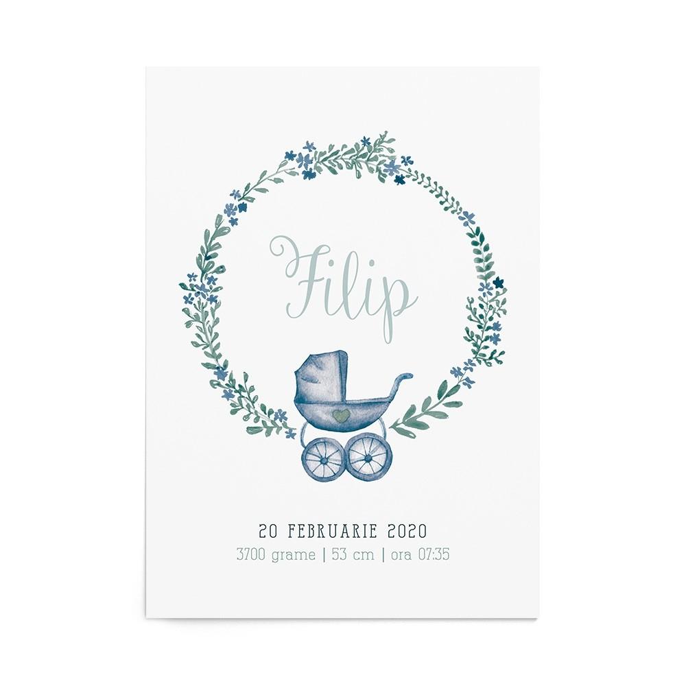 Art Print Baby Stroller Boy