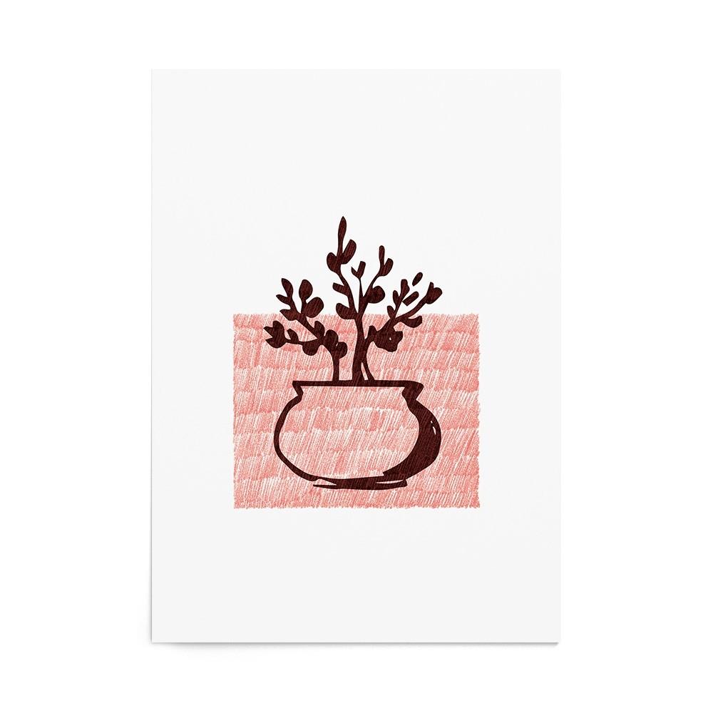 Art Print Bonsai Stamp
