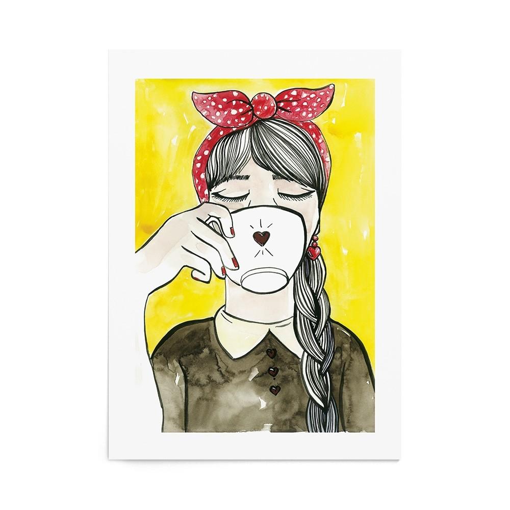 Poster Art Print Coffee Time