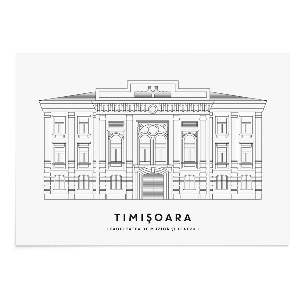 Art Print Facultatea de Muzica si Teatru Timisoara