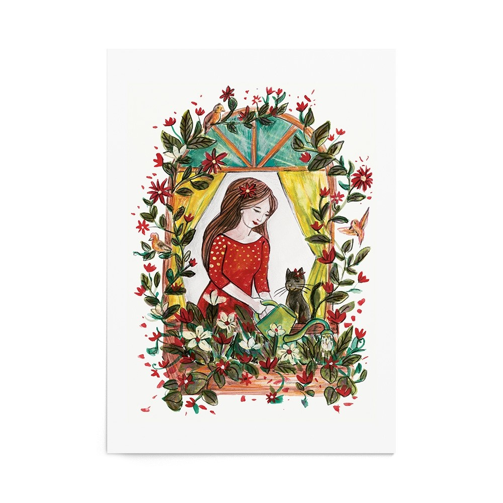 Poster Art Print Floral Therapy
