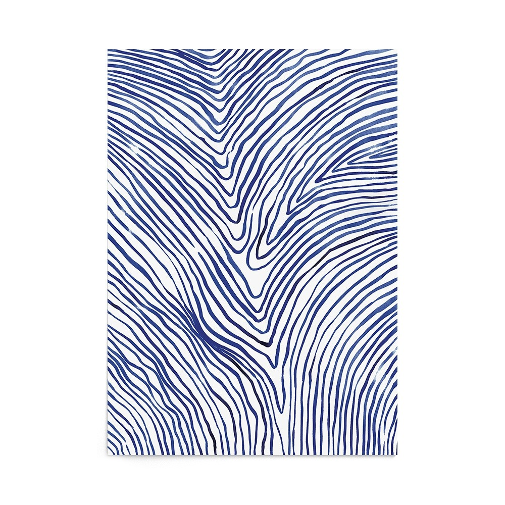Poster Art Print Flowing Lines