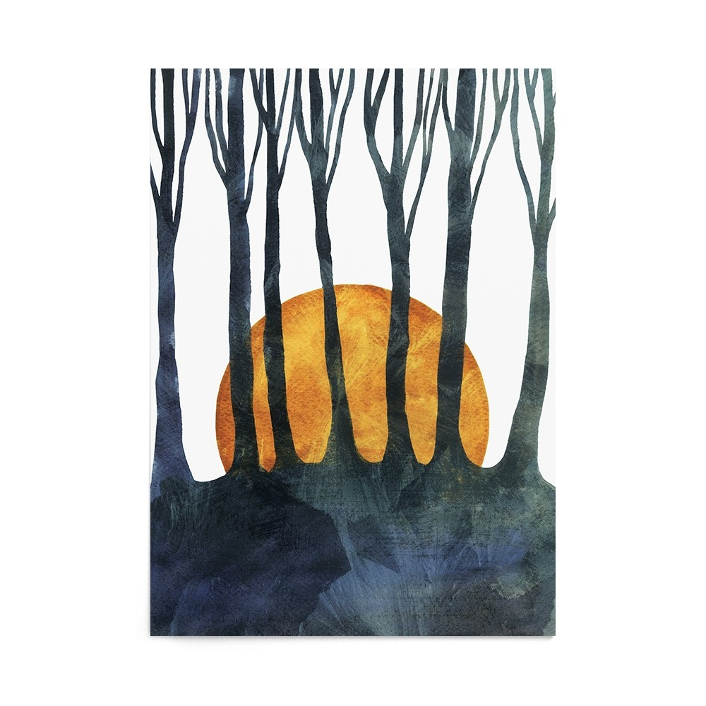 Poster Art Print Forest Dusk
