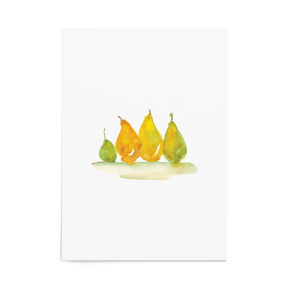 Art Print Golden Pears