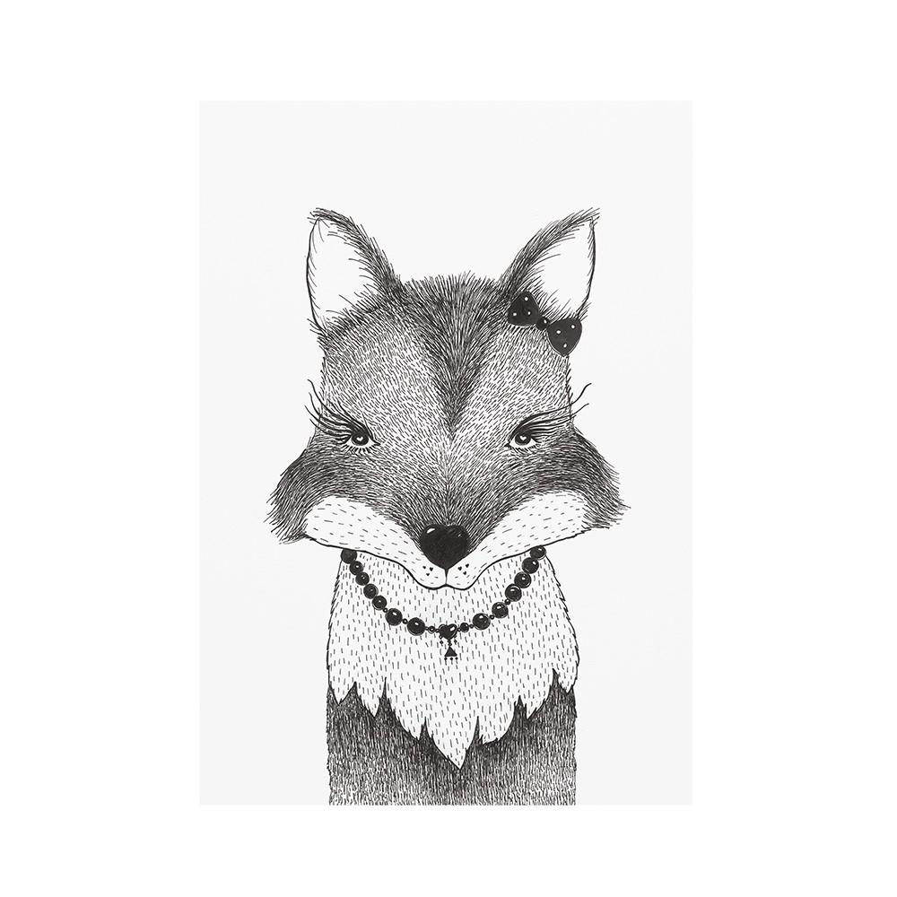 Poster Art Print Lady Fox