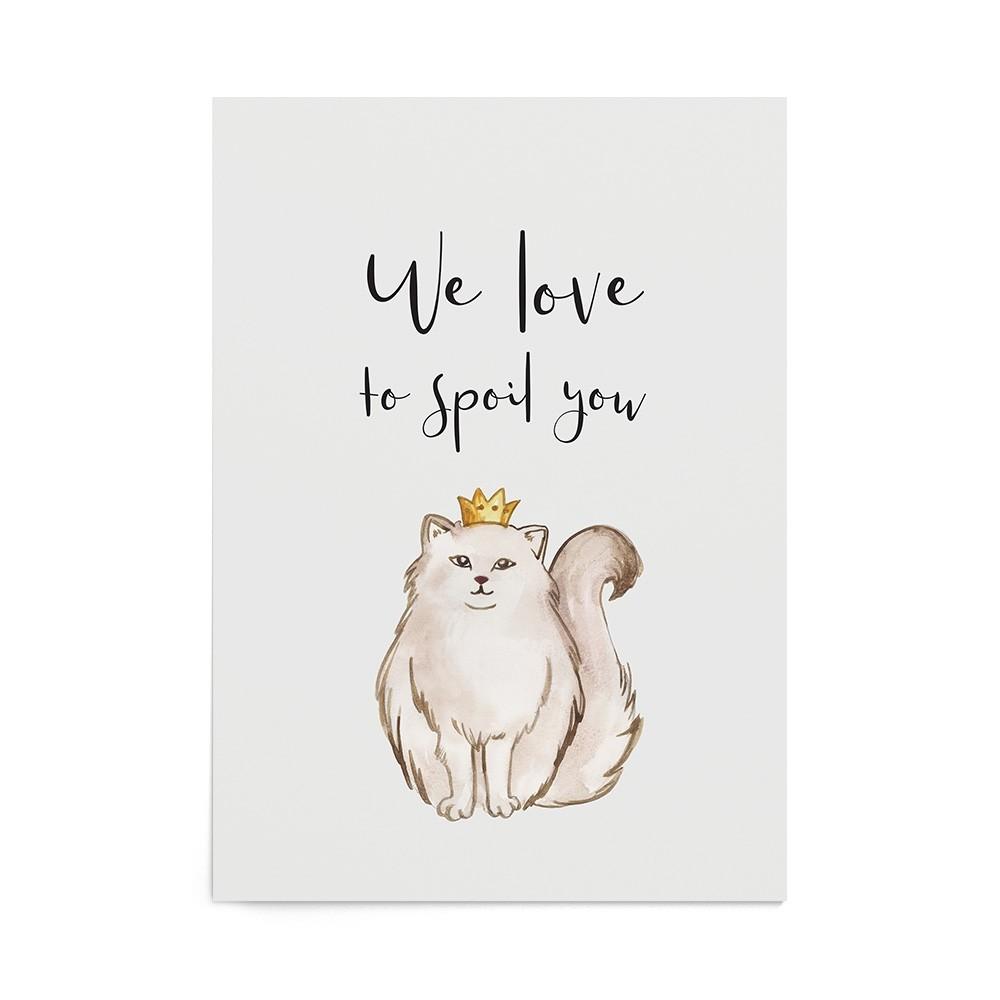 Art Print Little Princess' Cat