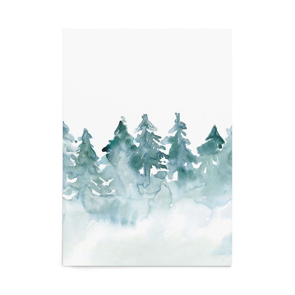 Art Print Misty Forest