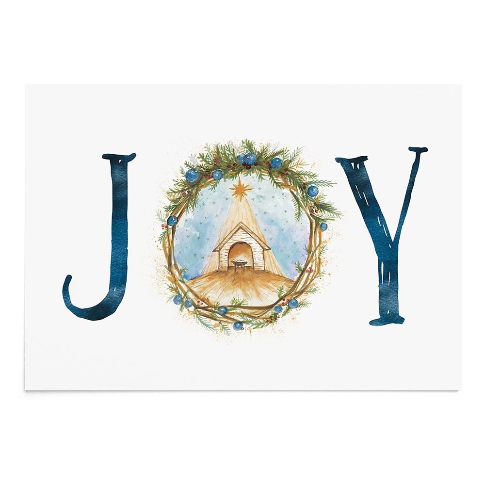 Poster Art Print Nativity Joy