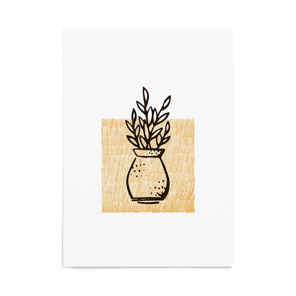 Art Print Olive Leaves Stamp