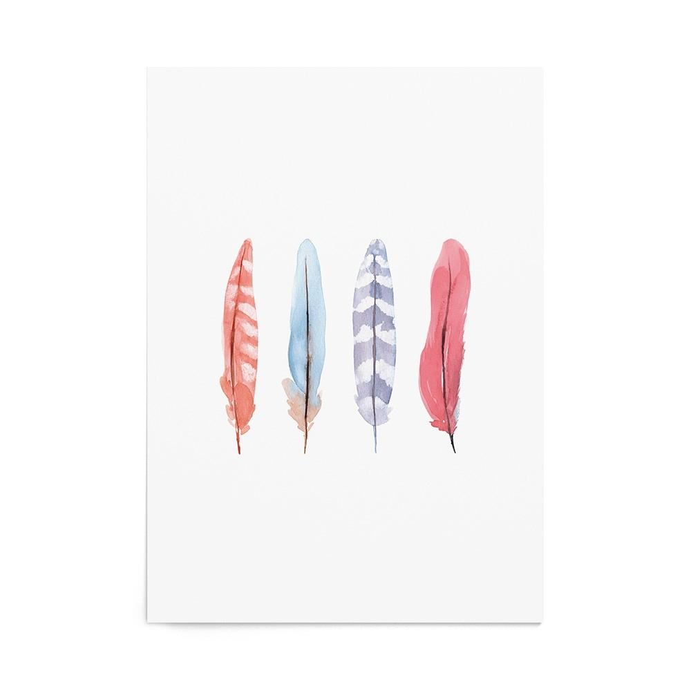 Art Print Pastel Feathers