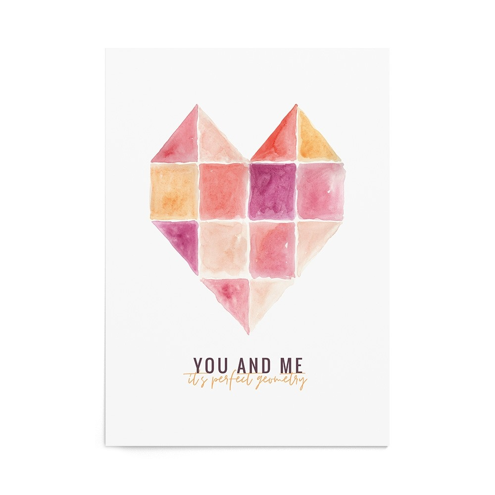 Poster Valentine's Perfect Geometry