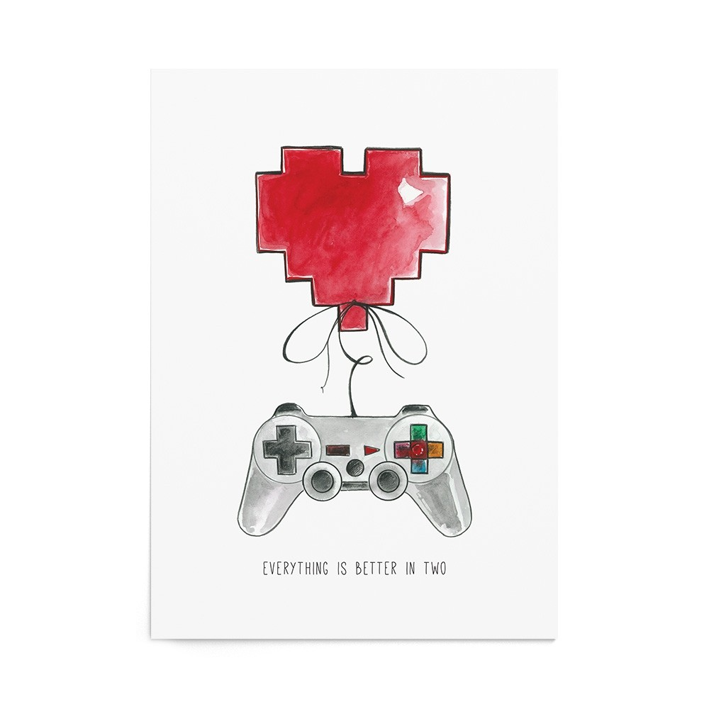 Poster Valentine's Player Heart