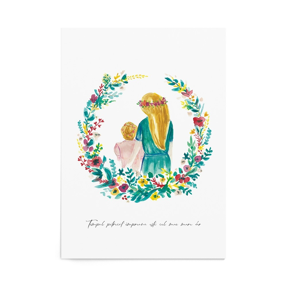 Poster Art Print Precious Garden Girl