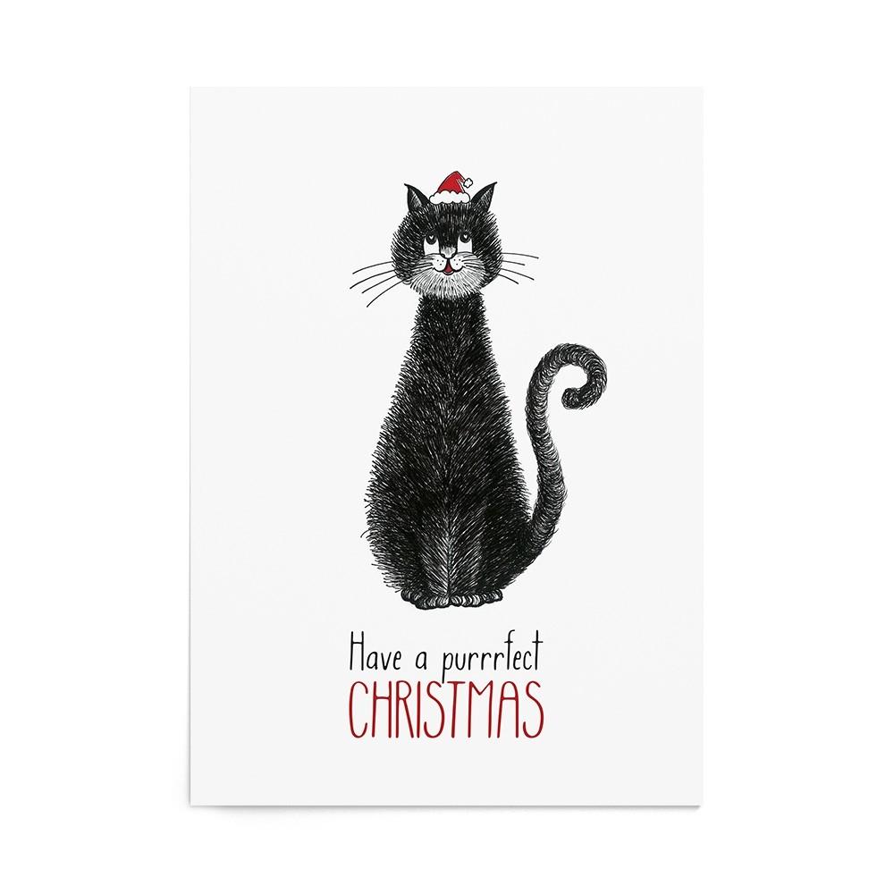 Poster Art Print Purrrfect Christmas