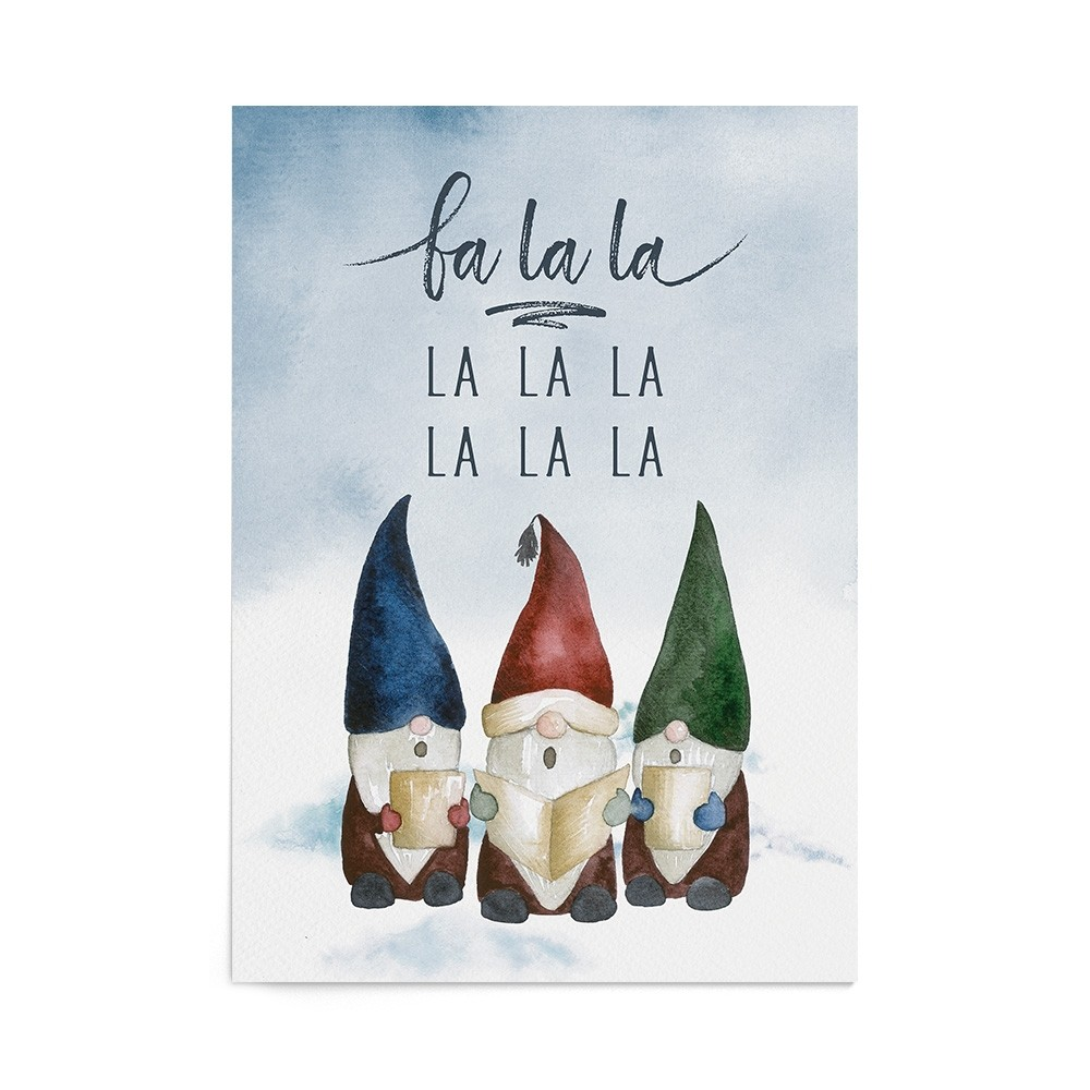 Poster Art Print Singing Gnomes