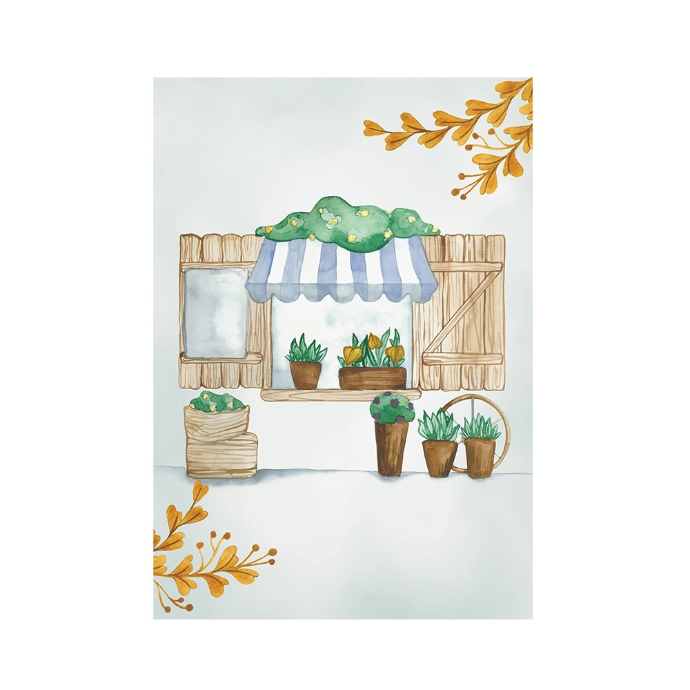 Poster Art Print Sweet Giraffe Flower Shop