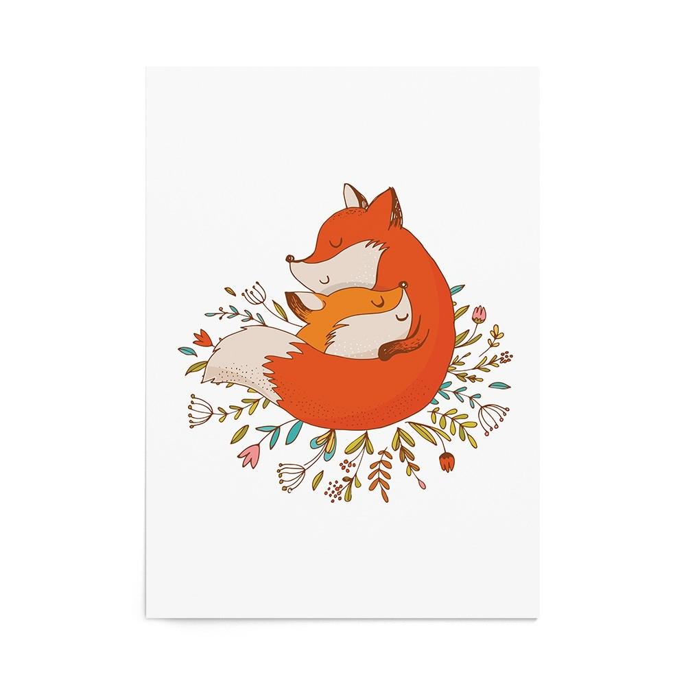 Poster Art Print Sweet Mother Fox