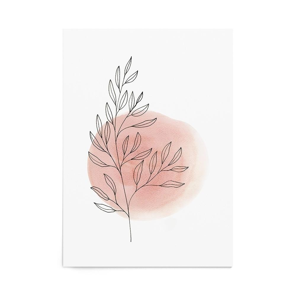Art Print Terracotta Leaf