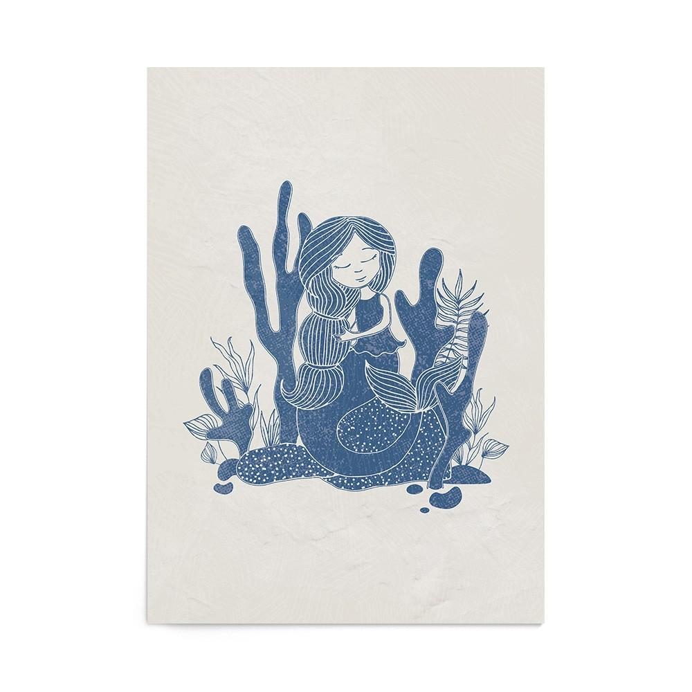 Poster Art Print Vintage Mermaid