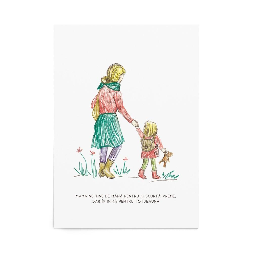 Poster Art Print Walking Girl
