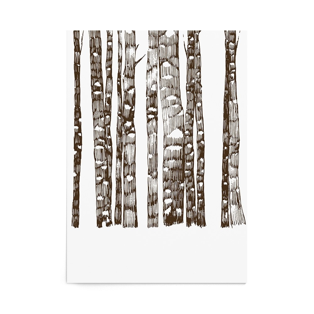Poster Art Print Walnut Forest