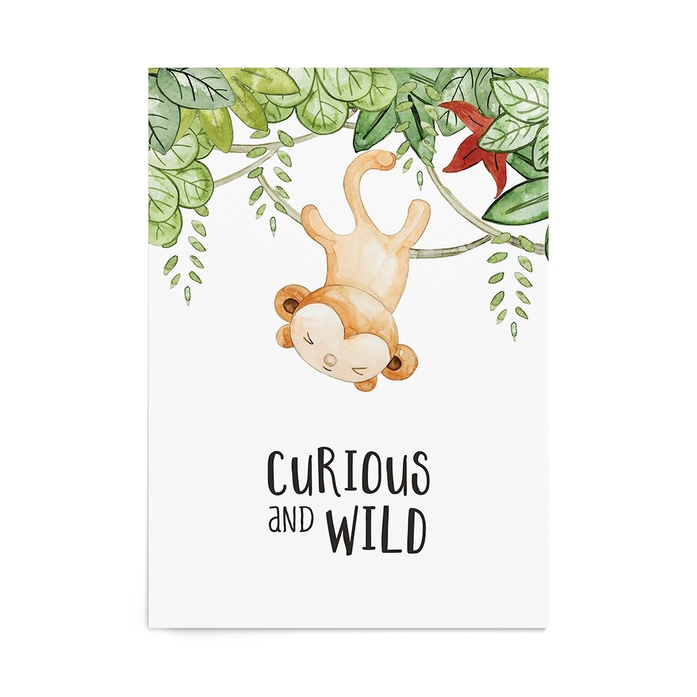 Art Print Wild Monkey