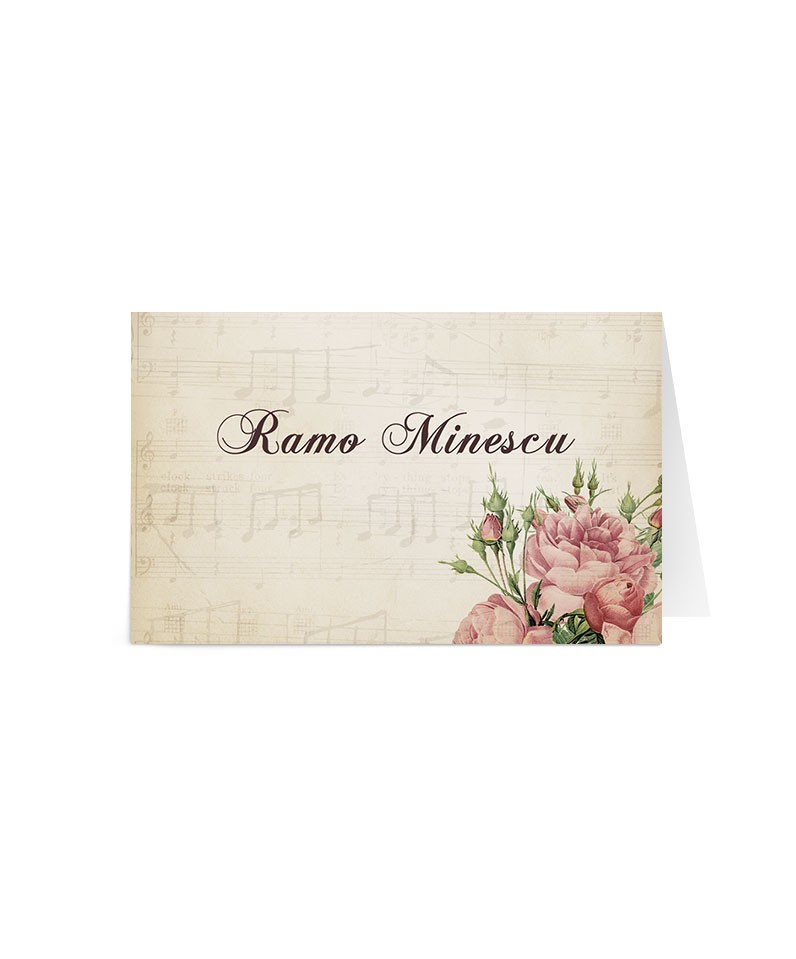 Card de nume Postcard Flowers