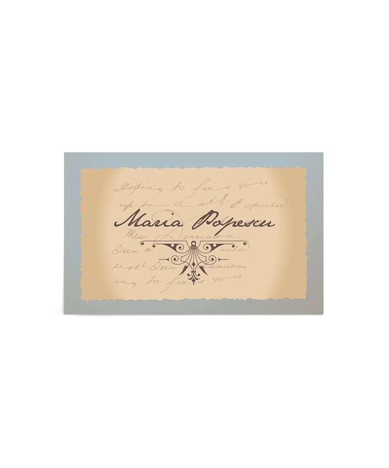 Card de nume Postcard