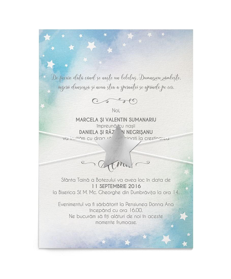 Invitatie de botez Little Star