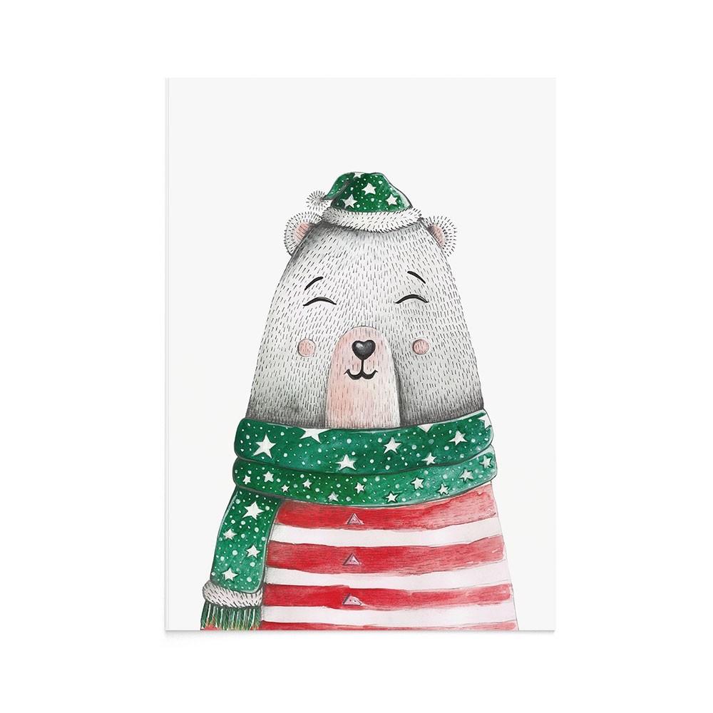 Felicitare Craciun Christmas Bear