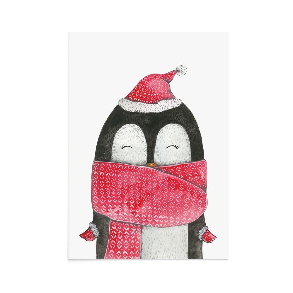 Felicitare Craciun Christmas Penguin