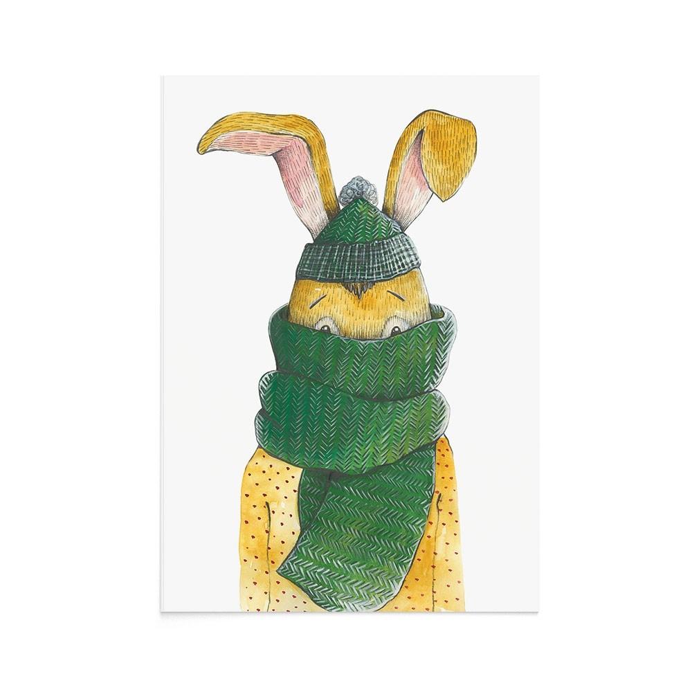 Felicitare Craciun Christmas Rabbit