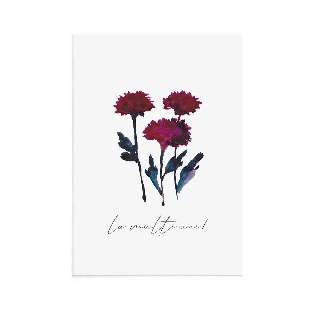 Felicitare Flori Toamna Chrysanthemum