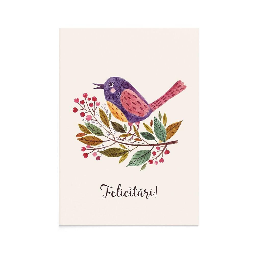 Felicitare Eveniment Cute Bird Event