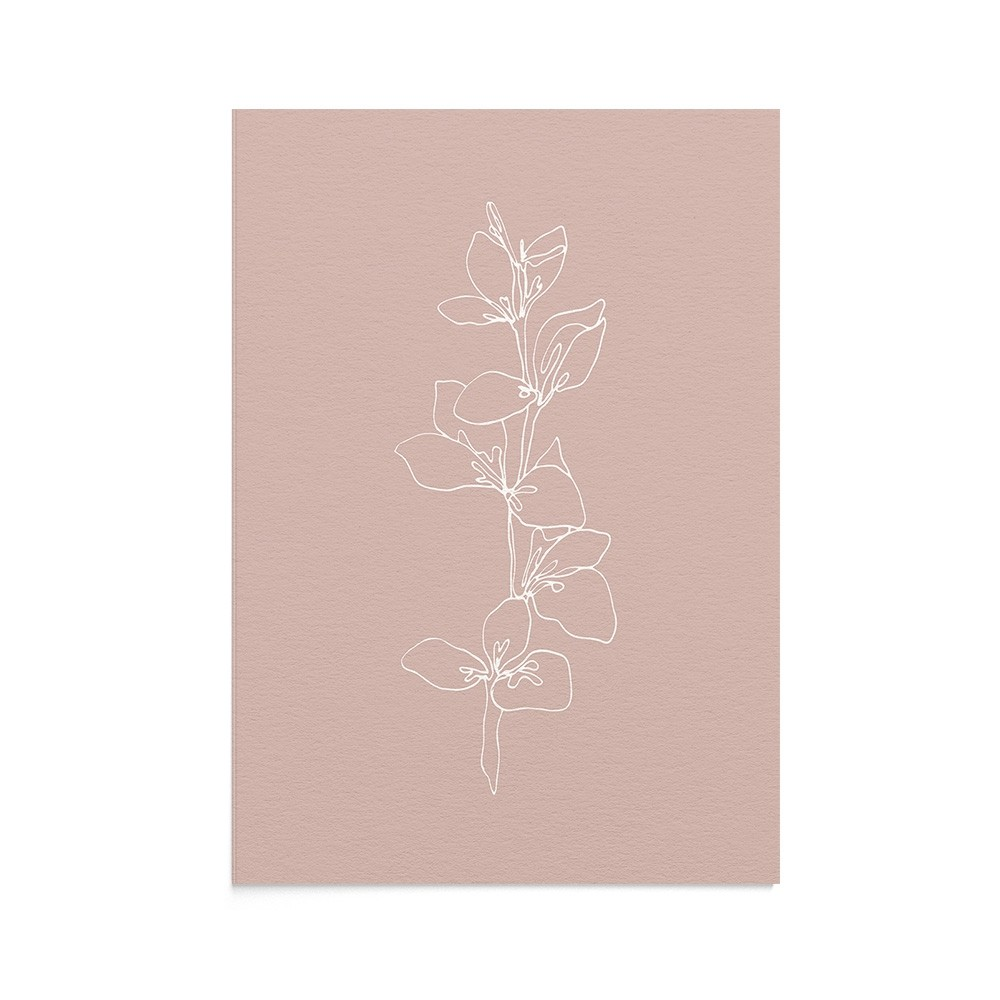 Felicitare Line Art Delicate Leaf