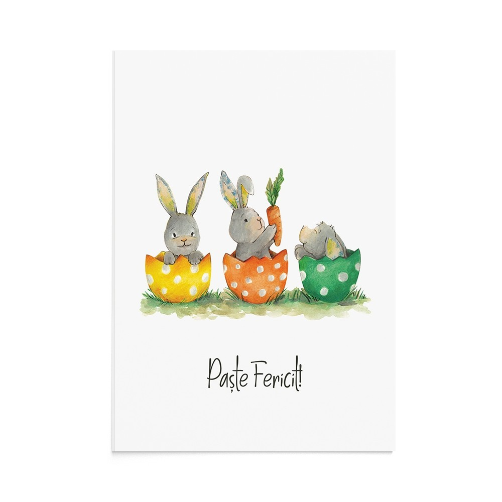 Felicitare Paste Easter Friends