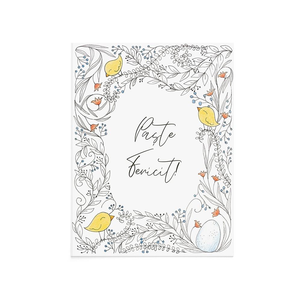 Felicitare Paste Easter Trill