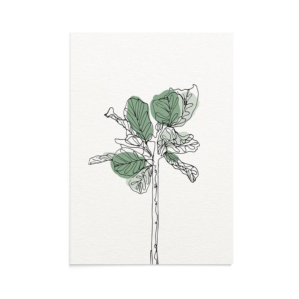 Felicitare Line Art Fig Tree